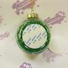 Шарик елочный с зеленым наполнителем
