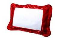 Подушка атласная цветная 40х30см с белой атласной вставкой на пуговицах (20*30)