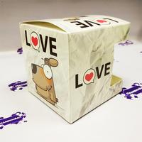 """Коробка подарочная для КРУЖКИ с окном """"Собака Love"""""""
