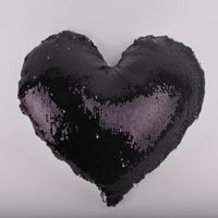 Наволочка ХАМЕЛЕОН сердце СТАНДАРТ (черная)