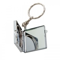 Зеркальце-брелок для ключей, квадрат 4*4см (металл)