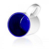 Кружка цветная c ТЕМНО-СИНЕЙ внутренней поверхностью