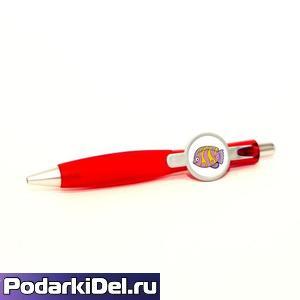 """Ручка шариковая с кольцом """"КРАСНАЯ"""" под сублимацию"""