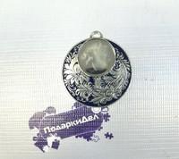 "Медаль MDRus522 ""серебро"" (без вкладыша 25мм) без ленты"