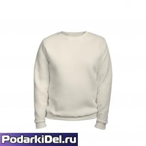 Свитшот унисекс МОЛОЧНЫЙ меланж, футер 280гр. (под сублимацию)