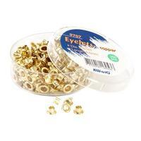 Люверсы золотые d=4,8mm (250шт. в упаковке)