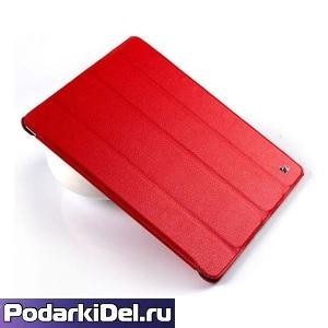 Чехол КРАСНЫЙ для планшета из натуральной кожи, со вставкой под сублимацию (205х106мм)