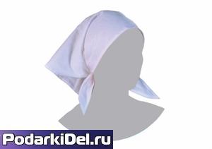 Бандана белая (65*65*91см) / косынка