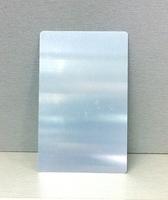 Визитка металл 0,9мм / серебро (без орнамента)