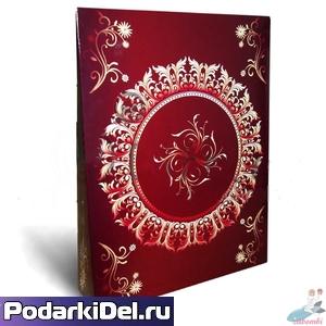 """Коробка подарочная для ФУТБОЛКИ """"Бордовый винтаж"""""""