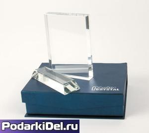 Фотокристалл ПРЯМОУГОЛЬНИК с подставкой 140х120х25mm (SJ08A)