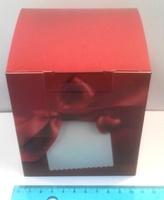 """Коробка подарочная для КРУЖКИ """"Красное Сердце"""""""
