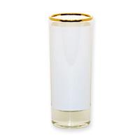 Рюмка стеклянная высокая (золотая каемка) h-10.2см, 120мл
