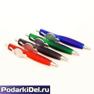 """Ручка шариковая с кольцом """"ЧЕРНАЯ"""" под сублимацию"""