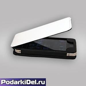 """Чехол-книжка IPhone 5/5S """"черный"""" из искусственной кожи (вверх-вниз)"""