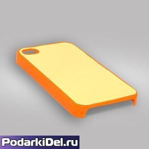"""Чехол пластиковый """"оранжевый"""" для IPhone 4/4S"""