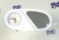 Часы пластиковые СЕРДЦЕ 19,5*9 белые