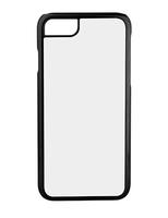 Чехол силиконовый IPhone 7 черный (вставка под сублимацию)