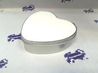 Шкатулка металличкская в форме сердца для сублимации