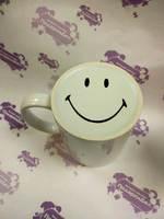 Кружка белая с печатью на дне SMILE