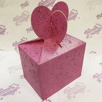 """Коробка подарочная для КРУЖКИ """"Розовая"""" с блесками"""