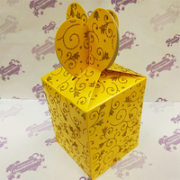 """Коробка подарочная для КРУЖКИ """"Желтая"""" с блесками"""