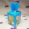 """Коробка подарочная для КРУЖКИ с окном """"Праздник"""" голубая"""