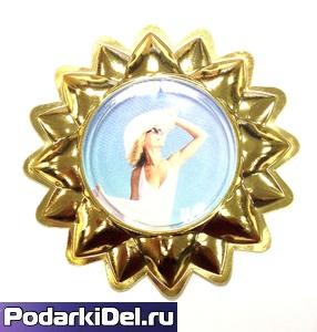 "Фотомагнит ""Солнышко"" (ЗОЛОТО) d-112мм"