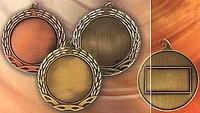 Медаль золото  (+вкладыш 50мм, шильдик) без ленты MD62
