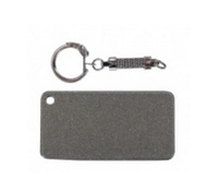 Брелок для ключей ПРЯМОУГОЛЬНИК (+карабин) под сублимацию СЕРЕБРО