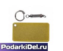 Брелок для ключей ПРЯМОУГОЛЬНИК (+карабин) под сублимацию ЗОЛОТО