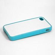 """Чехол пластиковый """"голубой"""" для IPhone 4/4S"""