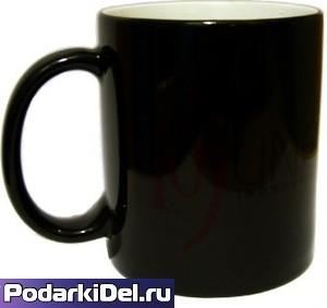 Кружка керамическая ХАМЕЛЕОН (черный) ГЛЯНЕЦ СТАНДАРТ