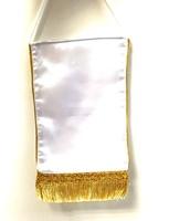 Вымпел (прямоугольник) с бахромой (золото/серебро)