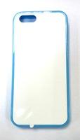 """Чехол силиконовый IPhone 5/5S """"голубой"""" (со вставкой под сублимацию)"""