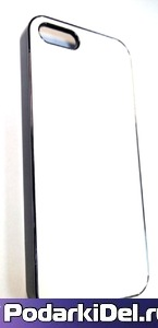 """Чехол хромированный IPhone 5/5S """"черный"""" (вставка под сублимацию)"""