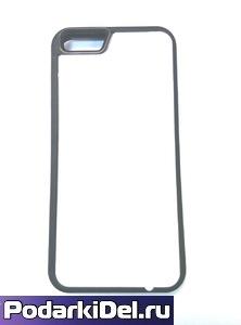 """Чехол силиконовый IPhone 6 """"черный"""" (вставка под сублимацию)"""