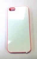 """Чехол пластиковый IPhone 5/5S """"розовый"""" (со вставкой под сублимацию)"""