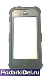 """Чехол силиконовый IPhone 5/5S """"черный"""" водонепроницаемый (вставка под сублимацию)"""