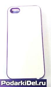 """Чехол пластиковый IPhone 5/5S """"фиолетовый"""" (со вставкой под сублимацию)"""