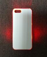 """Чехол пластиковый IPhone 5/5S """"прозрачный"""" с LED-подсветкой (со вставкой под сублимацию)"""