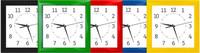 Часы пластиковые квадрат-ромб 205*205мм  КРАСНЫЕ
