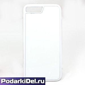 Чехол силиконовый IPhone 7 белый (вставка под сублимацию)