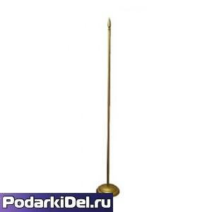 Флагшток настольный с 1штоком (золото)