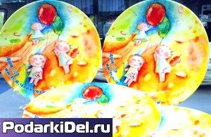 Тарелка фарфоровая круглая D-18см (рекомендуемая для Вакуумной Машины)