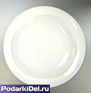 Тарелка фарфоровая круглая D-19см (рекомендуемая для Вакуумной Машины)