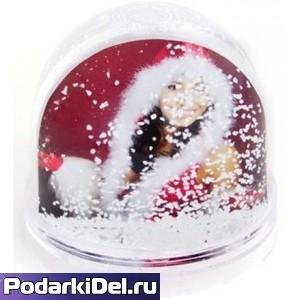 Шар снежный с хлопьями в виде СНЕЖИНОК ПРЕМИУМ!!!